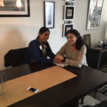 Artis fellow Ximena Lois with Mapuche Shaman Machi Paola Aroca Cayunao in Chile.